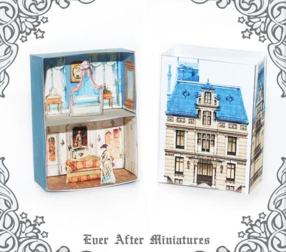 Victorian Matchbox Dollhouse Miniature Kit 1 Vintage Etsy