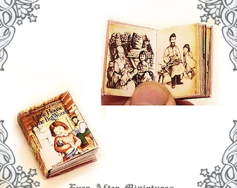 Little House on the Prairie Vol 1 Dollhouse Miniature Book – 1:12 Little House in the Big Woods Laura Ingalls Wilder Book Printable DOWNLOAD