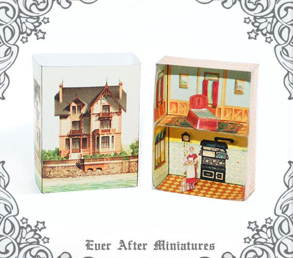 Vintage Matchbox Miniature Dollhouse Kit 3 Diy Miniature Etsy