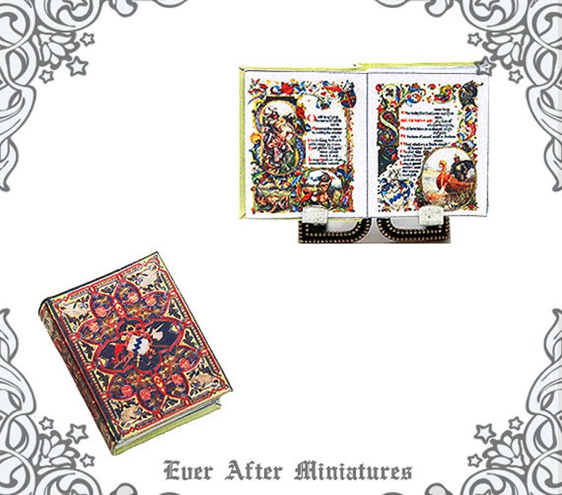 photograph relating to Printable Miniatures D&d named 1:12 King Arthur POEM MANUSCRIPT Illuminated Dollhouse Miniature Guide  Printable King Arthur Loss of life Poetry Tennyson Miniature Reserve Obtain
