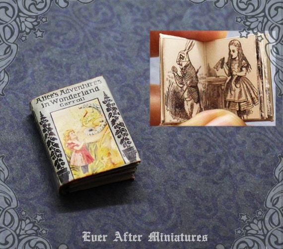 1:12 SCALE MINIATURE BOOK ALICE IN WONDERLAND COMPLETE CARROLL TENNIEL