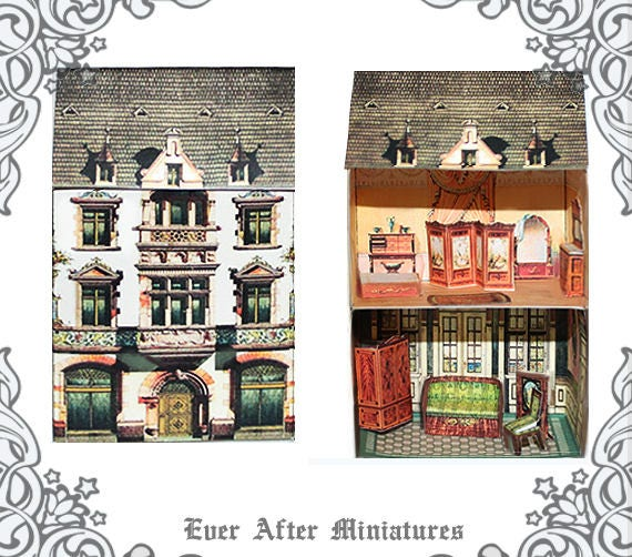 Victorian Dollhouse Miniature Kit 2 Printable Diy Dollhouse Etsy
