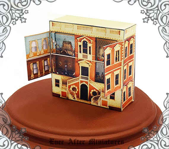 Panier de patisseries miniatures Miniature pour maison poupées Doll House
