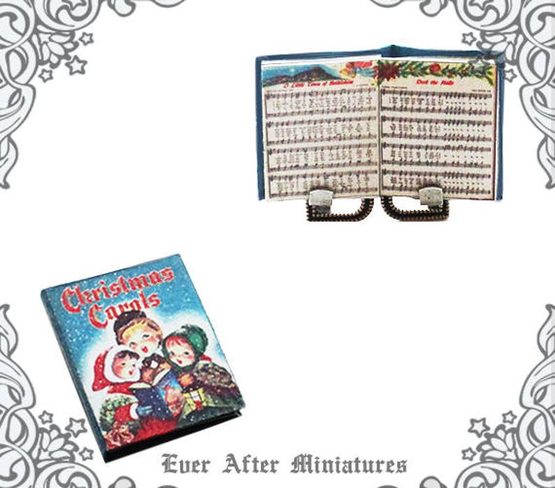 graphic relating to Printable Christmas Carols Booklet titled Xmas CAROLS Sheet Tunes Dollhouse Miniature E-book 1:12 Miniature Xmas Caroling Caroler Xmas Track E-book Printable Down load