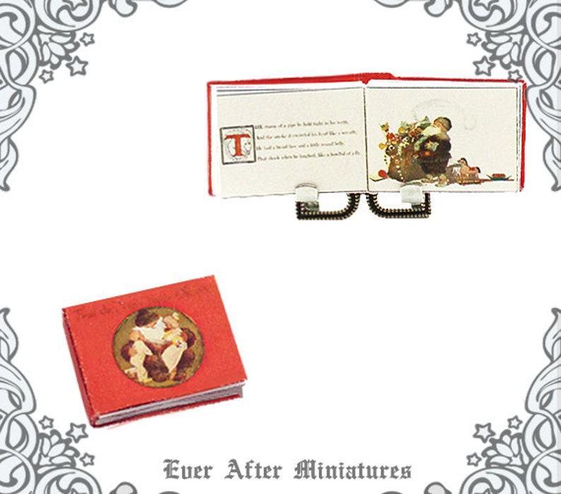 photograph relating to Twas the Night Before Christmas Printable Book called Twas the Evening Ahead of Xmas Dollhouse Miniature Reserve 1:12 Unique Twas the Evening In advance of Xmas Miniature Guide Printable Down load