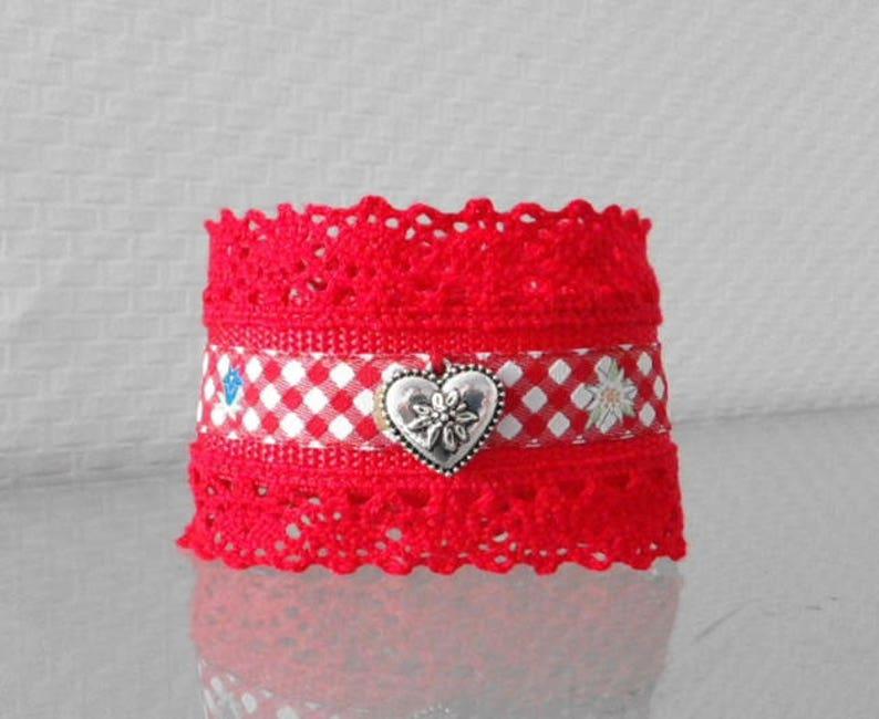 Wrist strap with lace adjustable Bayern Oktoberfest