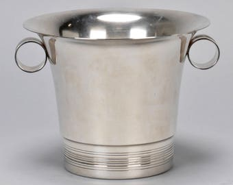 Mid-Century Silver Plate Wine Cooler or Ice Bucket [7789]