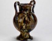 Tall French Amphora Form Mottled Vase or Vessel 2018