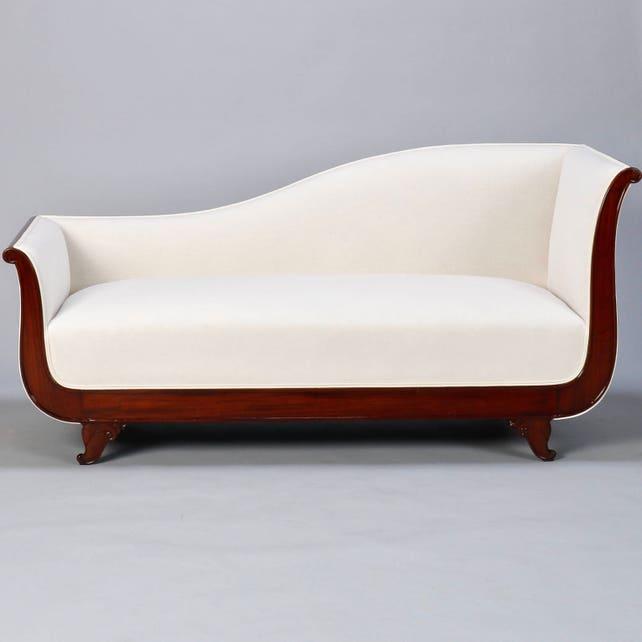 Empire Style Sofa With Mahogany Base 7505   Etsy