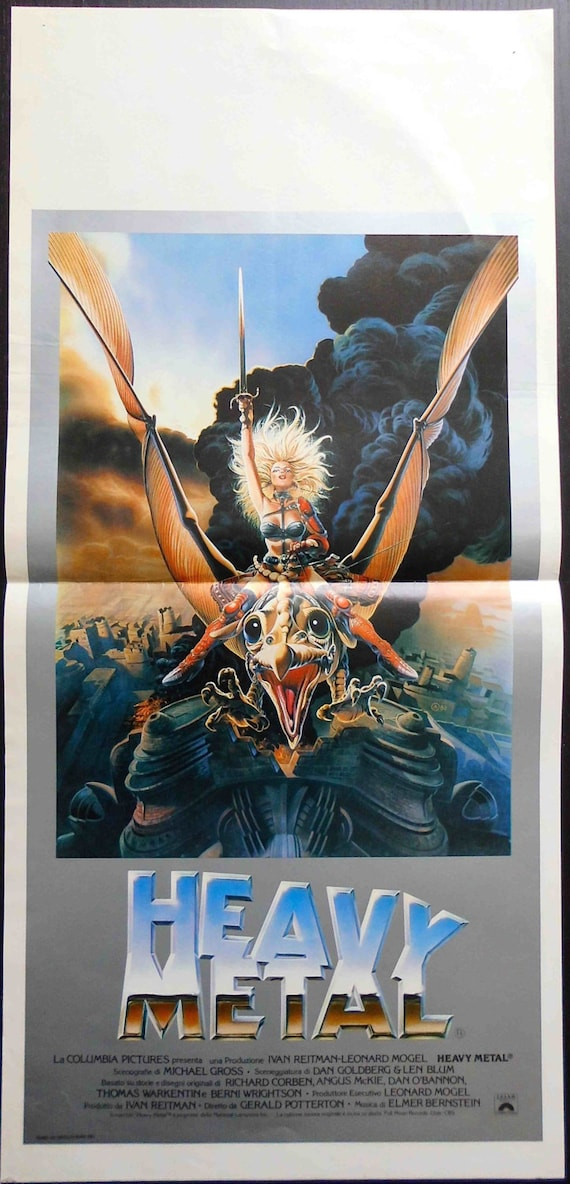 Original Movie Poster Heavy Metal 1981 Gerald Etsy