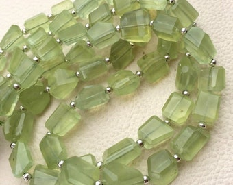 Machine Cut Quality Full 14 Inch Long Strand. Latest Arrival Full 14 inch Strand Of Manufacturer Price Rondells SHADED PREHNITE