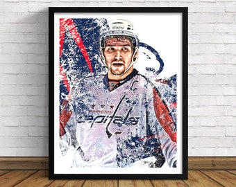 "Washington Capitals | Alex Ovechkin | 11"" x 14"" / 16""x 20"" Art Print 