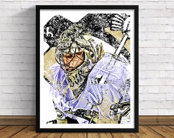 "Pittsburgh Penguins | Marc-André Fleury | 11"" x 14"" / 16""x 20"" Art Print 