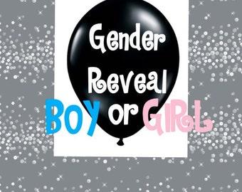 "12"" or 24"" Gender Reveal Balloon"