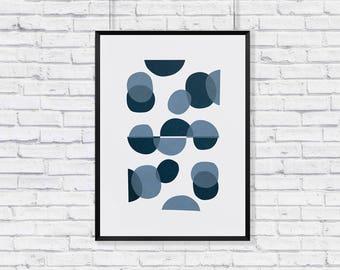 Abstract minimal dots, screen-printed wall-art
