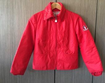 Vintage Moncler Ski Wear France Down Jacket Red