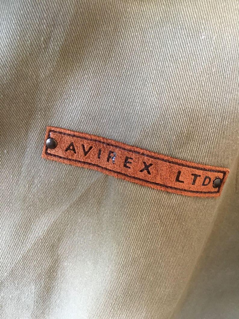 Vintage Avirex Ltd Flight Jacket Green Army Hoodies