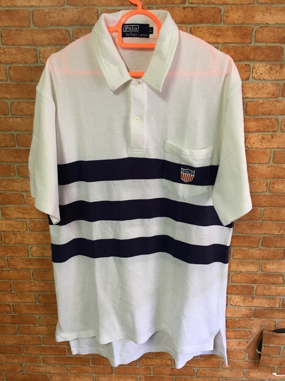 Vintage Polo Ralph Lauren K Swiss Small Logo Rugby