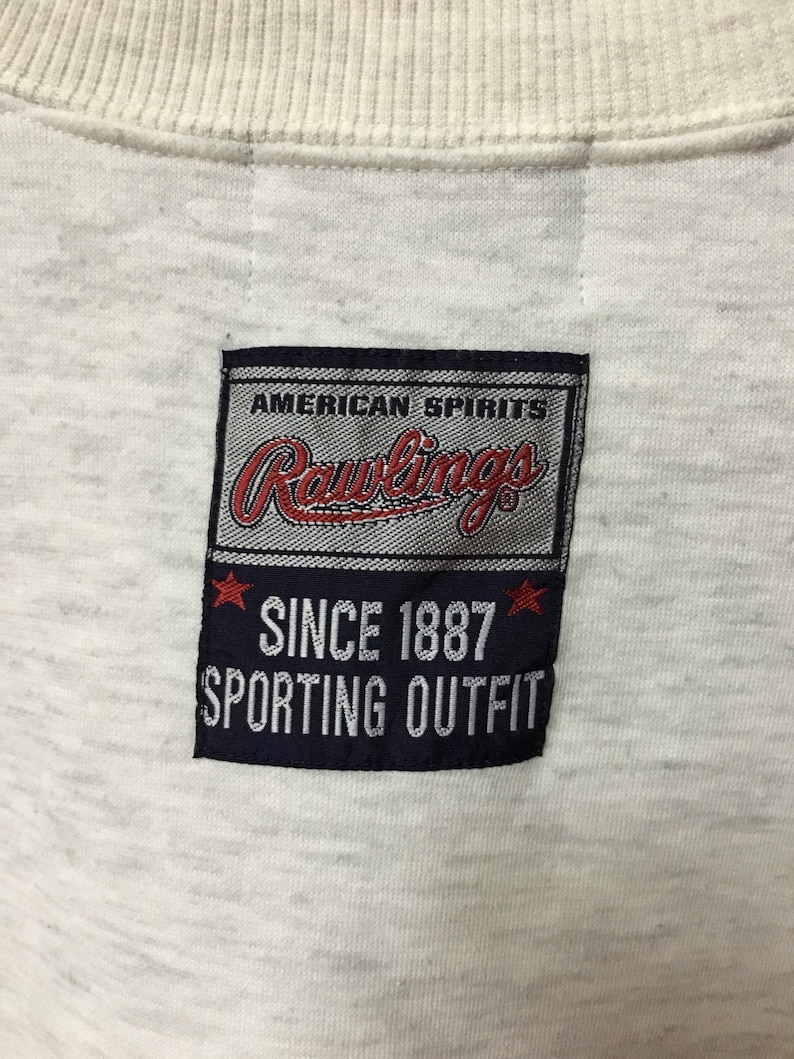 Vintage Rawling Big Logo Sweatshirt Pullover Jumper Grey L