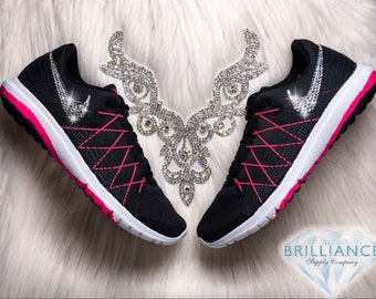 Swarovski Nike Shoes Bling Nike Shoes Women s Nike Flex Fury 2 Customized  with Swarovski® Crystals Authentic New In Box Bling 01a2a2d59