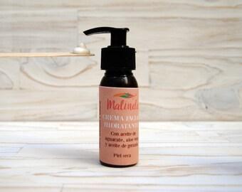 Crema hidratante piel normal-seca con aceite de Aguacate, Aloe Vera y aceite de Geranio.