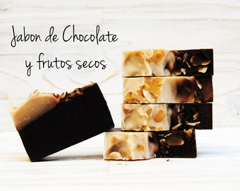 Jabón de chocolate y frutos secos