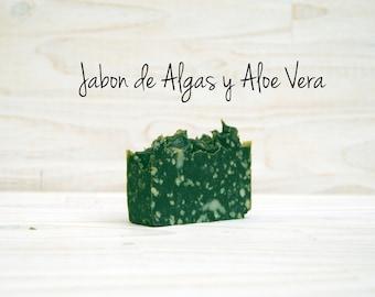 Jabón artesano de Algas y Aloe vera.