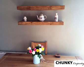 Floating shelves Rustic shelf reclaimed chunky shelves 7cm thick