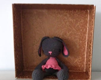 Bunny in cotton with safety eyelets.