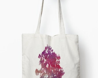 Tree tote bag, canvas tote bag, nature design reusable bag