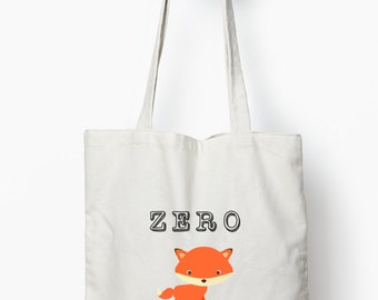 Sarcastic tote bag, Funny fox tote bag, Funny typography bag, canvas tote bag