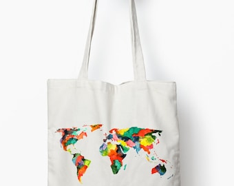wanderlust tote bag, wanderlust gift, canvas tote bag