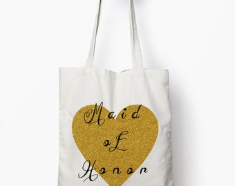 maid of honor bag, maid of honor gift, wedding tote bag