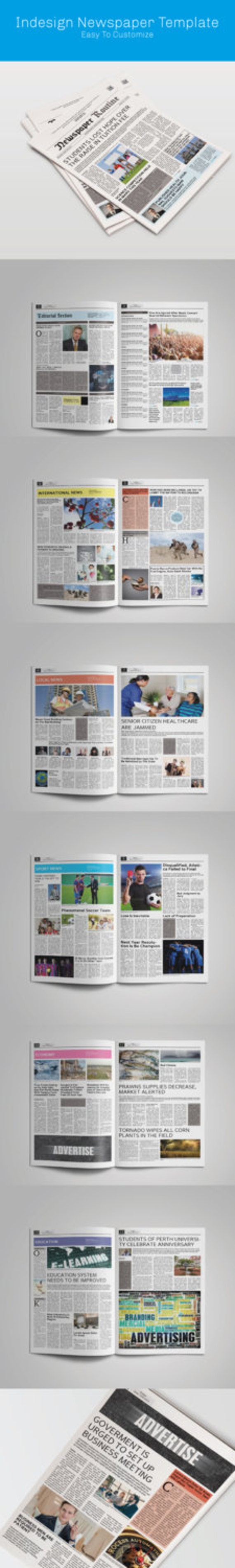 Newspaper Template Tabloid Size Etsy