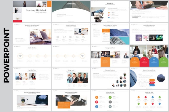 Klar & sauber PowerPoint-Vorlage | Etsy