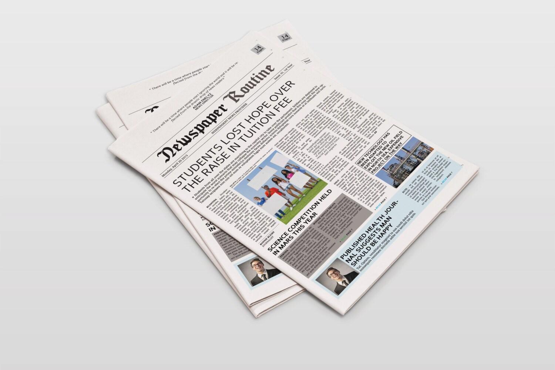 Plantilla de periódico tabloide tamaño | Etsy