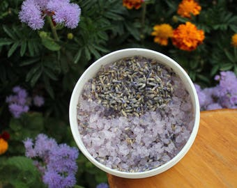 Aromatherapy Bath salt Organic Lavender Bath salt Natural Bath salt Vegan gift SPA salt Relaxation bath saltLavender gift Bath gift for her