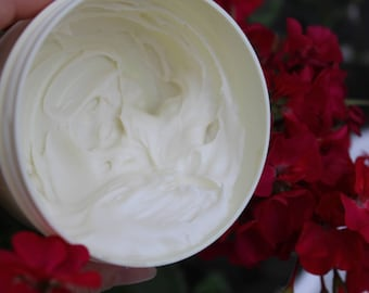 Organic Body cream Triple butter cream Body butter Body Moisturizer Nourishing body cream Dry skin care Winter cream Cacao Coconut Shea oils