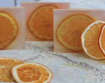 Gift soap Sweet Orange Gift soap Gift for her Gift for mom Gift for girl Orange soap Glycerine soap Original soap Original gift Bar soap