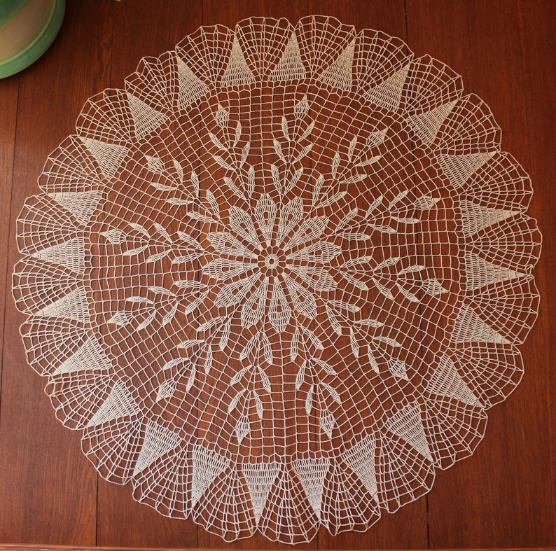 Free Shipping Crochet Lace Tablecloth Large Table Decor Cotton Etsy
