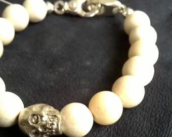 Riverstone/Skull Bracelet