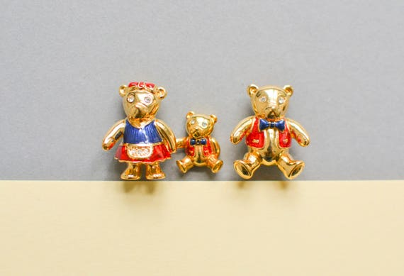 Bear Brooches, Teddy Brooch, 90s Jewelry, Animal J
