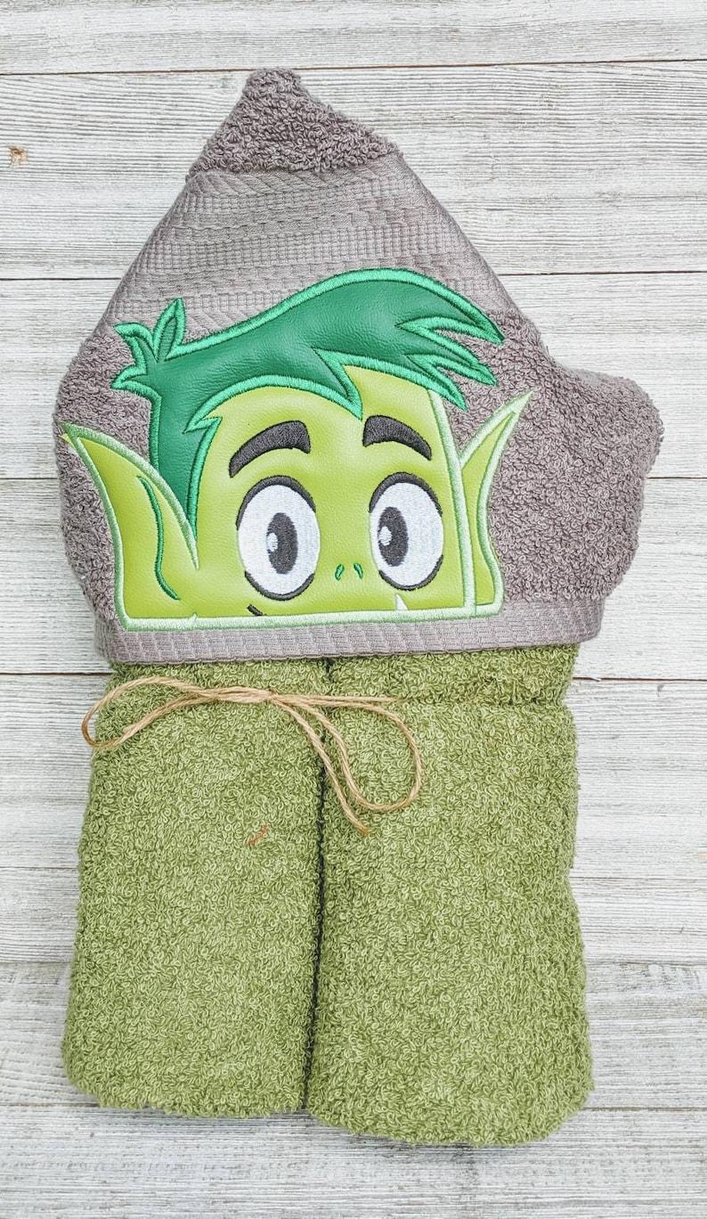 Beast Boy Hooded Towel Teen Titans Hooded Towel Beast Boy image 0