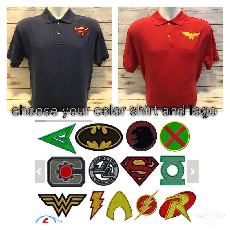 Men's Polo shirt Men's superhero shirt DC polo image 0