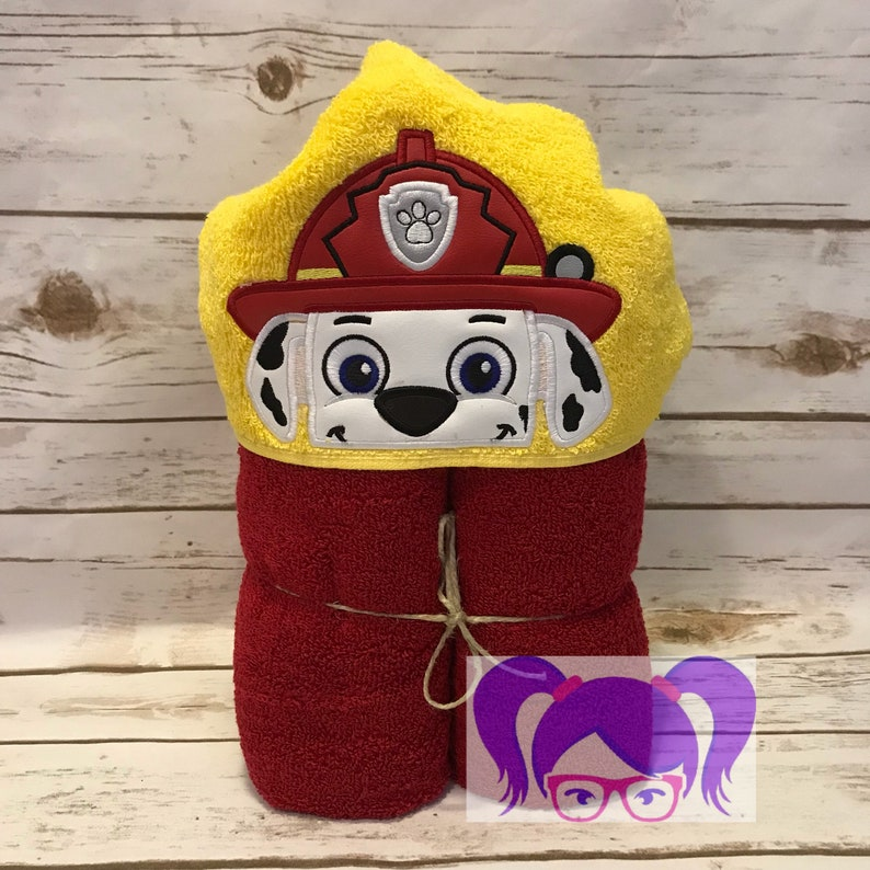Marshall Hooded Towel Chase Hooded  Towel Paw Patrol Hooded image 0