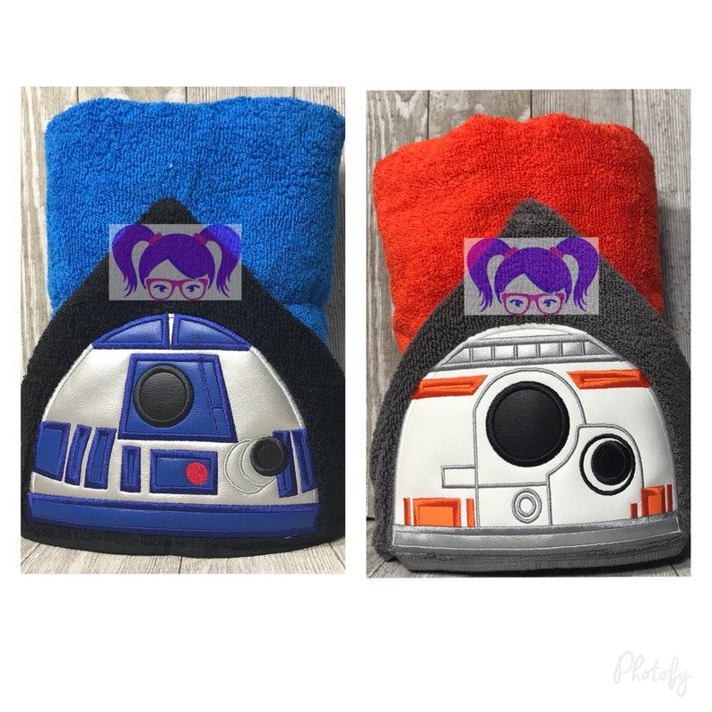Bb8 Hooded towel R2D2 Hooded Towel Star Wars Hooded Towel image 0