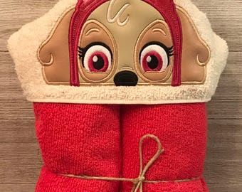 Hooded Towel, Paw Patrol Hooded Towel, Paw Patrol Bath Towel, Bath, Bathroom, Paw Patrol Towel, Skye Hooded Towel