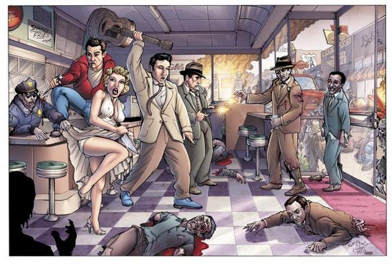 Parasol w Zombie Apocalypse print