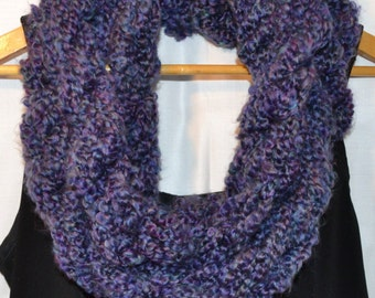 The Christine Scarf: infinity.circle.necklace.cowl.long.extra long.warm.soft.chunky.yarn.handmade.