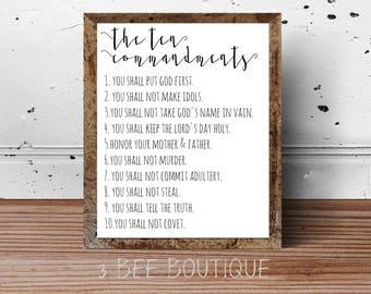 image about Kjv Ten Commandments Printable identify 10 commandments Etsy